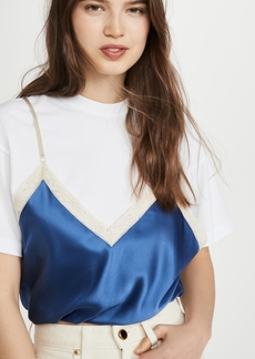 Alexander Wang Draped T-Shirt Cami Hybrid