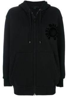 Alexander Wang embossed oversized zip hoodie - Black