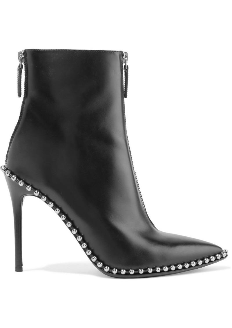 alexander wang alexander wang eri bottines de chaussures en cuir clout clout cuir 4e6139