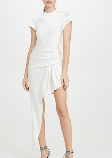 Alexander Wang Exposed Leg Short Sleeve Dress