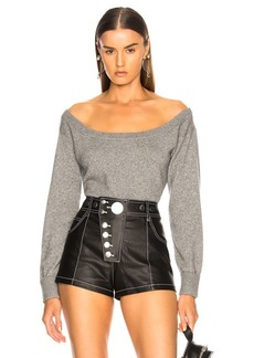 Alexander Wang Fitted Cropped Sweater