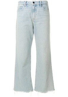 Alexander Wang flared cropped jeans - Blue