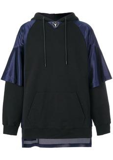 Alexander Wang Football Hybrid hoodie - Black