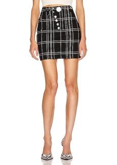 Alexander Wang Front Snap Skirt