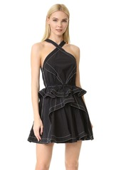 Alexander Wang Full Skirt Dress with Cord Waist