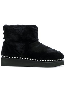 Alexander Wang fur boots with studded trim - Black