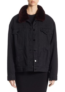 Alexander Wang Fur Denim Jacket