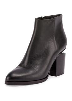 Gabi Tilt-Heel Leather Boot