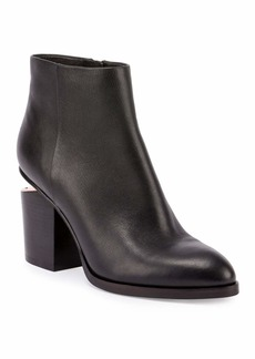 Alexander Wang Gabi Tilt-Heel Leather Boots  Black