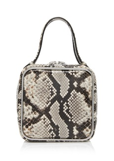 Alexander Wang Halo Snake-Effect Leather Top Handle Bag