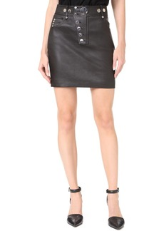 Alexander Wang High Waisted Leather Miniskirt