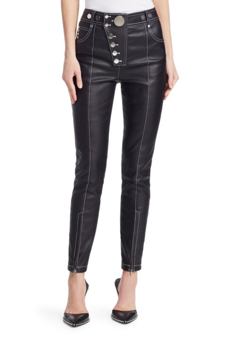 Alexander Wang High-Waist Multi-Button Leggings