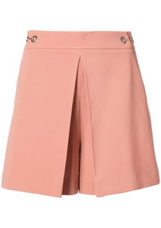 Alexander Wang High Waisted pleat front shorts - Pink & Purple