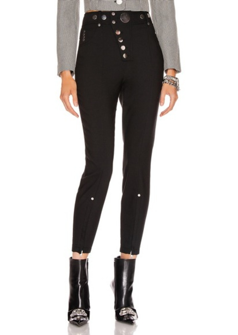 Alexander Wang High Waisted Snap Front Legging