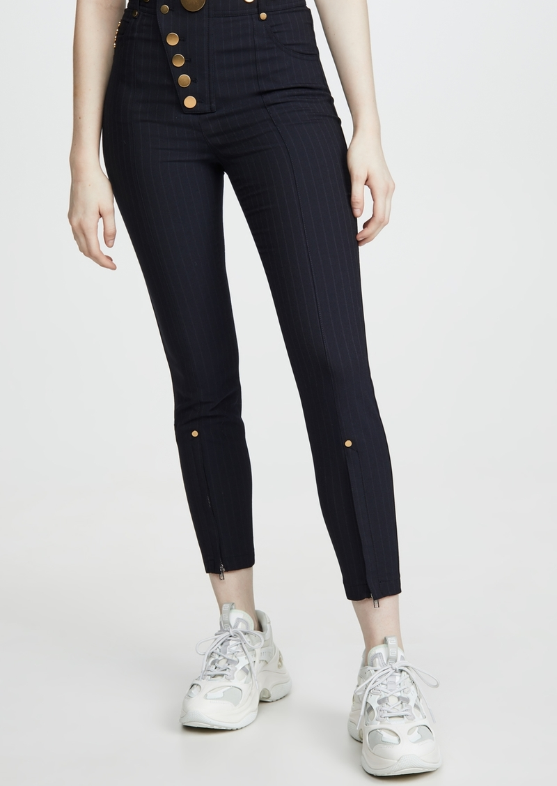 Alexander Wang High Waisted Snap Front Leggings