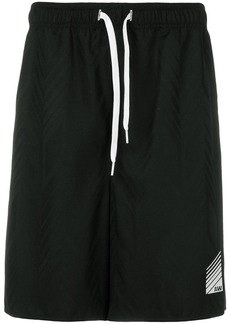 Alexander Wang high-waisted track shorts - Black