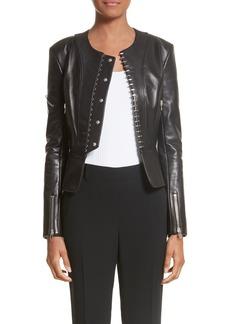 Alexander Wang Hook Detail Lambskin Leather Jacket