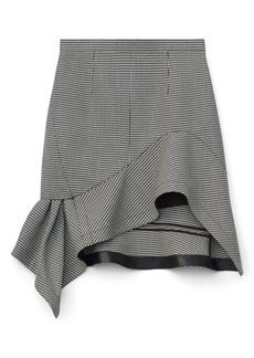 Alexander Wang Houndstooth Deconstructed Ruffle Miniskirt
