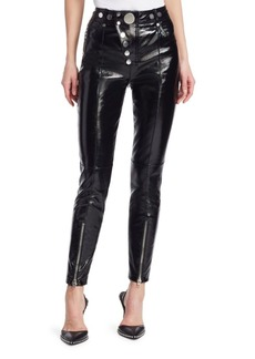 Alexander Wang Hybrid Leather & Denim Leggings