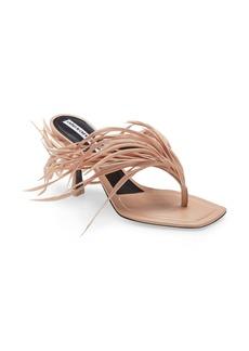 Alexander Wang Ivy Feather Slide Sandal (Women)