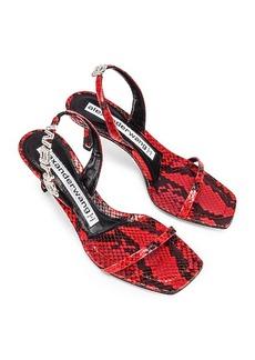 Alexander Wang Ivy Red Snake Print Heel
