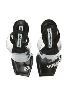 Alexander Wang Kaia Clear Strap Crystal Logo Sandal (Women)