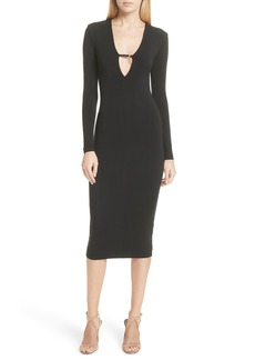 T by Alexander Wang Keyhole Neck Body-Con Dress
