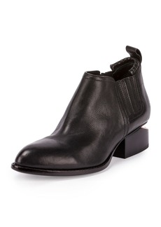 Alexander Wang Kori Leather Lift-Heel Ankle Boot