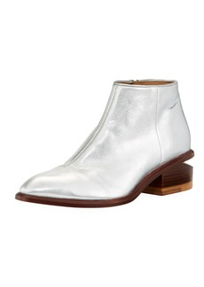 Alexander Wang Kori Metallic Leather Lift-Heel Bootie