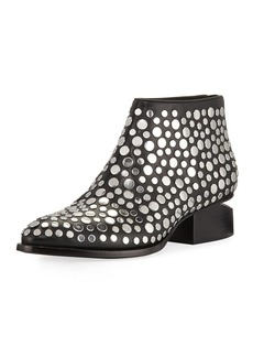 Alexander Wang Kori Studded Leather Lift-Heel Bootie