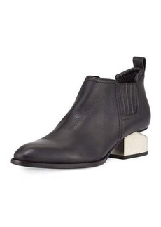 Alexander Wang Kori Tilt-Heel Leather Bootie