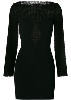 Alexander Wang lace panel mini dress - Black