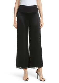 T by Alexander Wang Lace Trim Draped Satin Pants