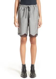 Alexander Wang Lace Trim Wool Board Shorts