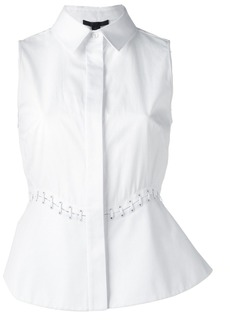 Alexander Wang lace-up detail sleeveless blouse - White