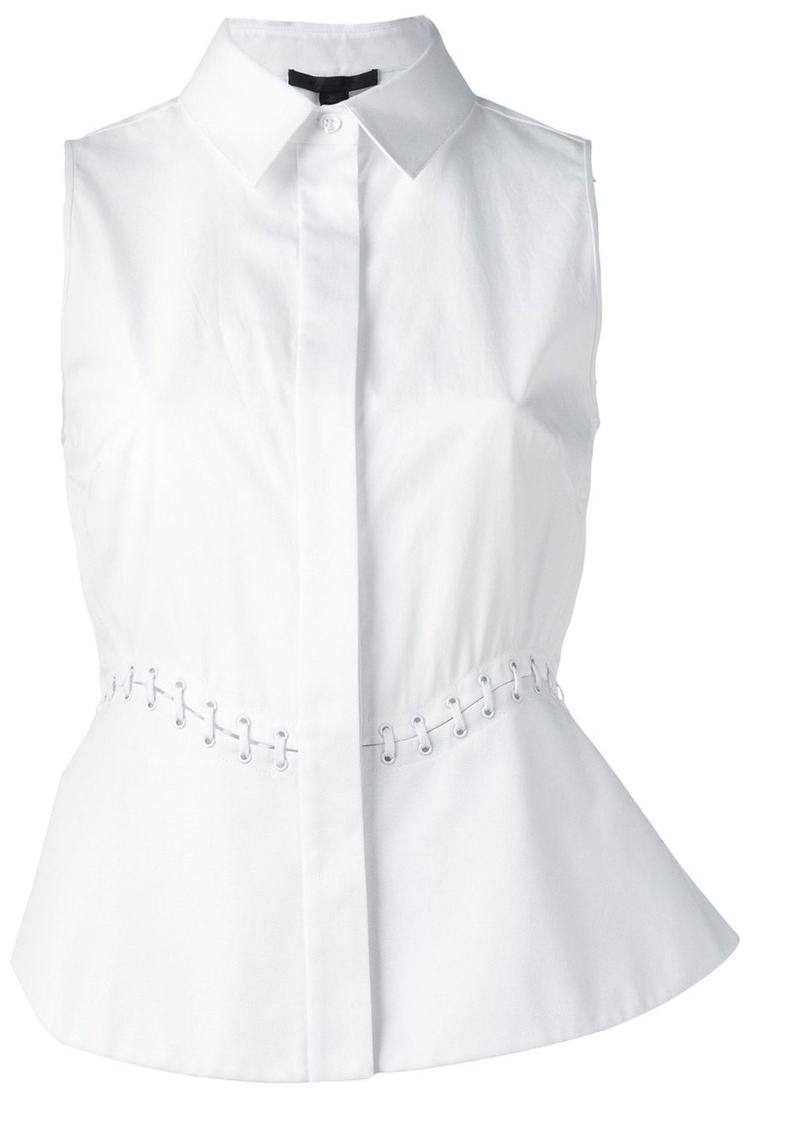 Alexander Wang lace-up detail sleeveless blouse