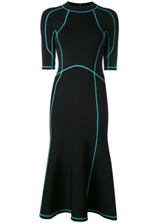 Alexander Wang lace-up scuba dress - Black