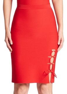 Alexander Wang Lace-Up Slit Pencil Skirt