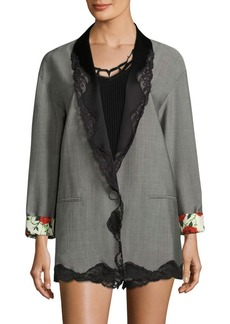 Alexander Wang Lace Wool-Blend Jacket