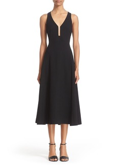Alexander Wang Ladder Stitch A-Line Midi Dress