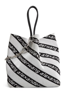 Alexander Wang Large Roxy Logo Knit Jacquard Tote (Regular Retail Price: $695.00)