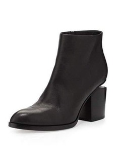 Alexander Wang Leather Bootie with Tilt-Effect Heel