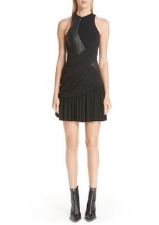 Alexander Wang Leather Detail Jersey Dress
