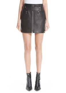 Alexander Wang Leather Moto Skirt
