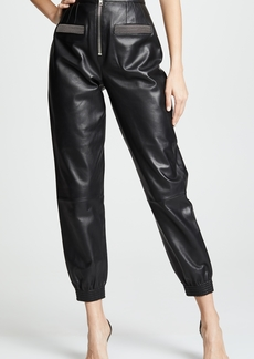 Alexander Wang Leather Sweatpants
