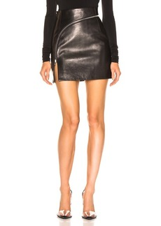 Alexander Wang Leather Zip Detail Mini Skirt