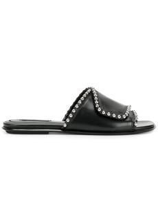 Alexander Wang Leidy slides - Black