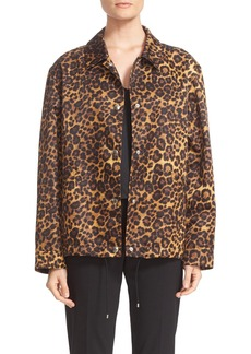 Alexander Wang Leopard Print Coach's Jacket