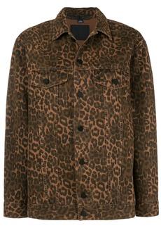 Alexander Wang leopard print jacket - Brown
