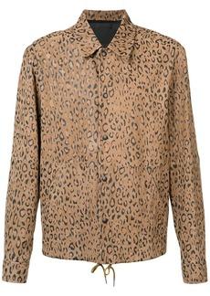 Alexander Wang leopard print shirt jacket - Brown